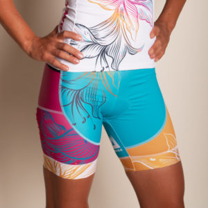 Damen Triathlon Short Lanakila Speedy Flower