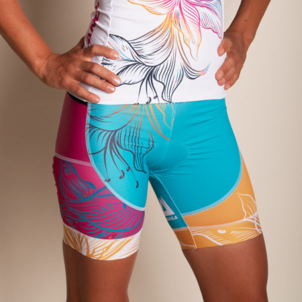 Triathlon Short Women Speedy Flower