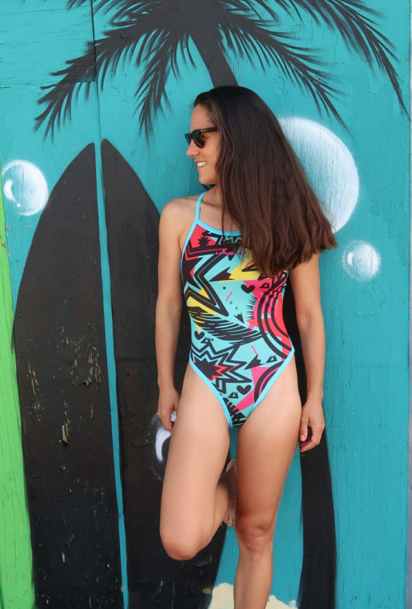 Lanakila Swim Suit Graffiti