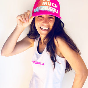 Trucker Cap_front_laugh_pink