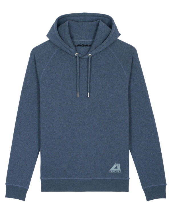 Bio Hoodie heather blue front_pac