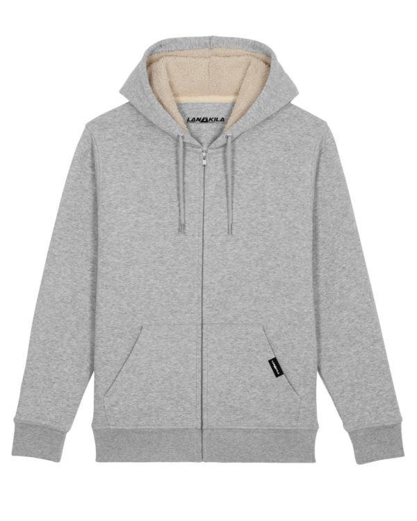 Bio_KApuzenjacke_Sherpa_Heather_Grey_Packshot_Front